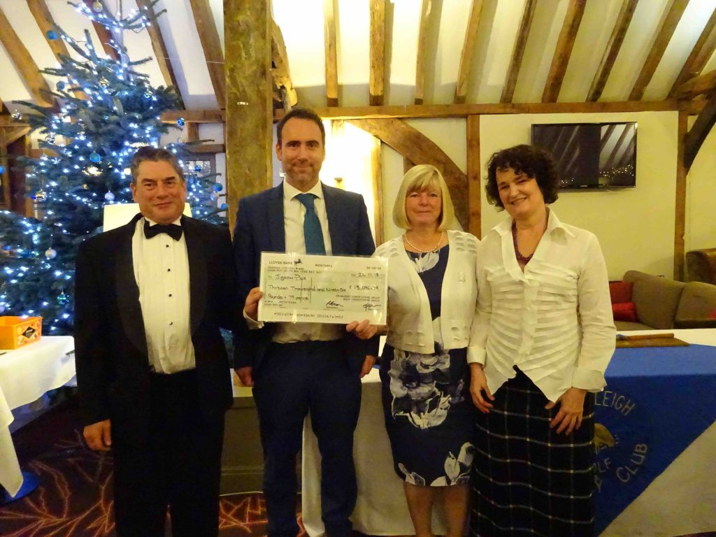 Cranleigh Golf Club cheque presentation
