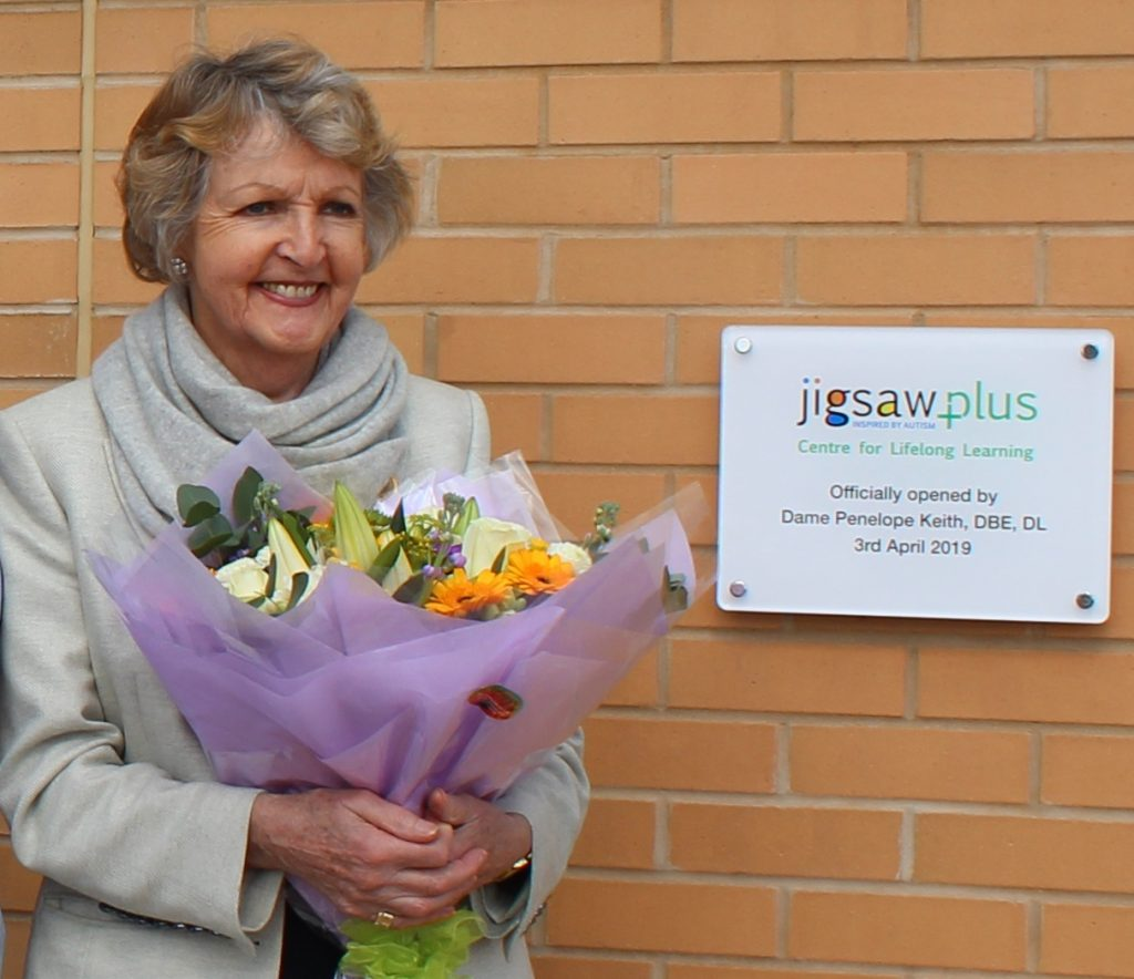 Dame Penelope Keith officially opens JigsawPlus Centre for Lifelong Learning